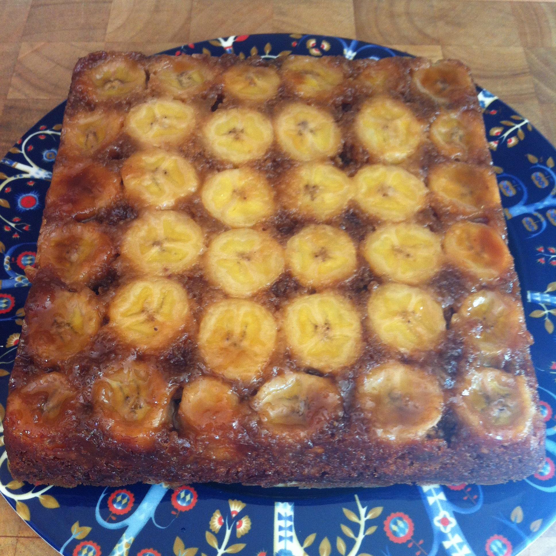 Square Banana banana;toffee;caramel;upsidedown cake ...